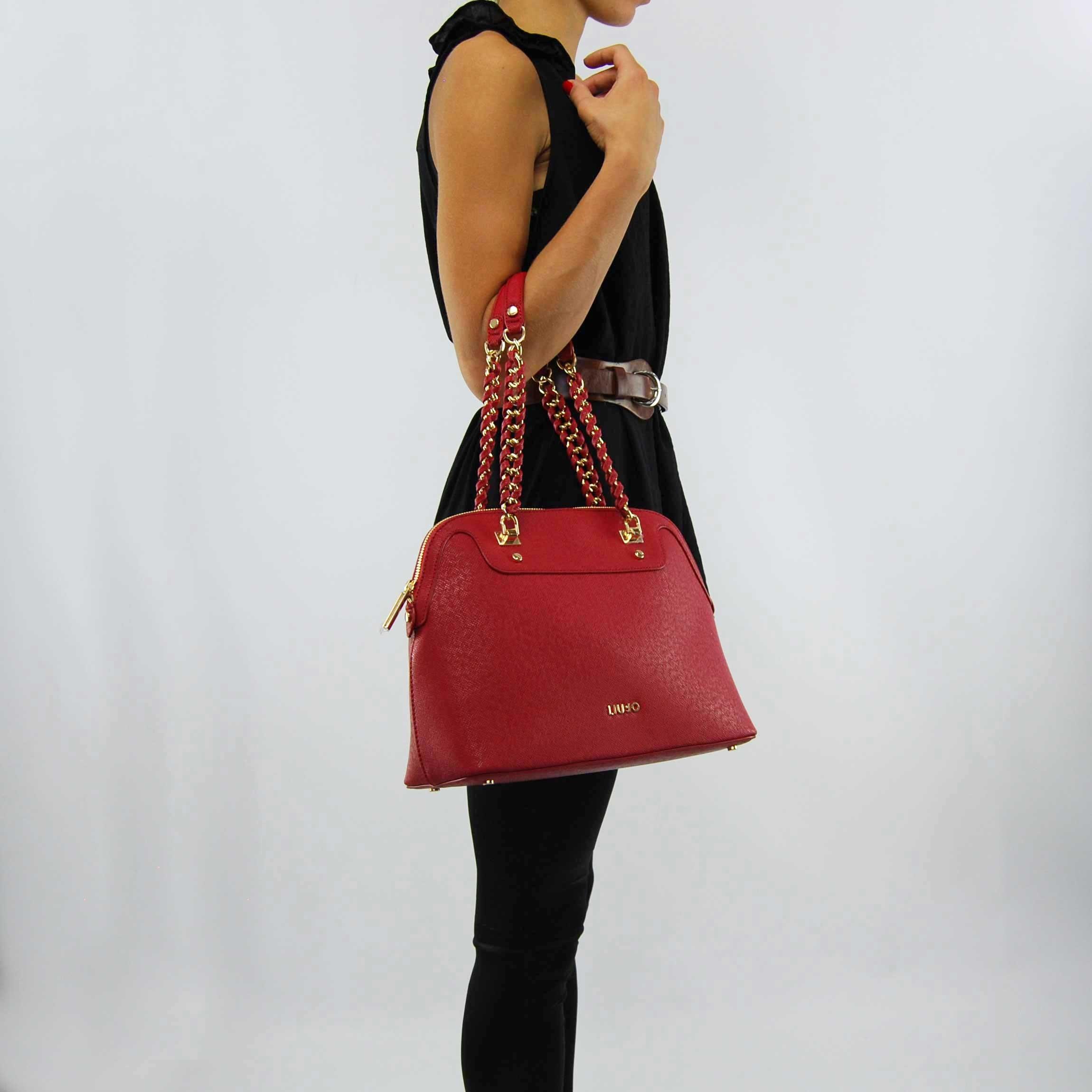 Shopping bag Liu Jo m anna chain lacquer 64b290dac95