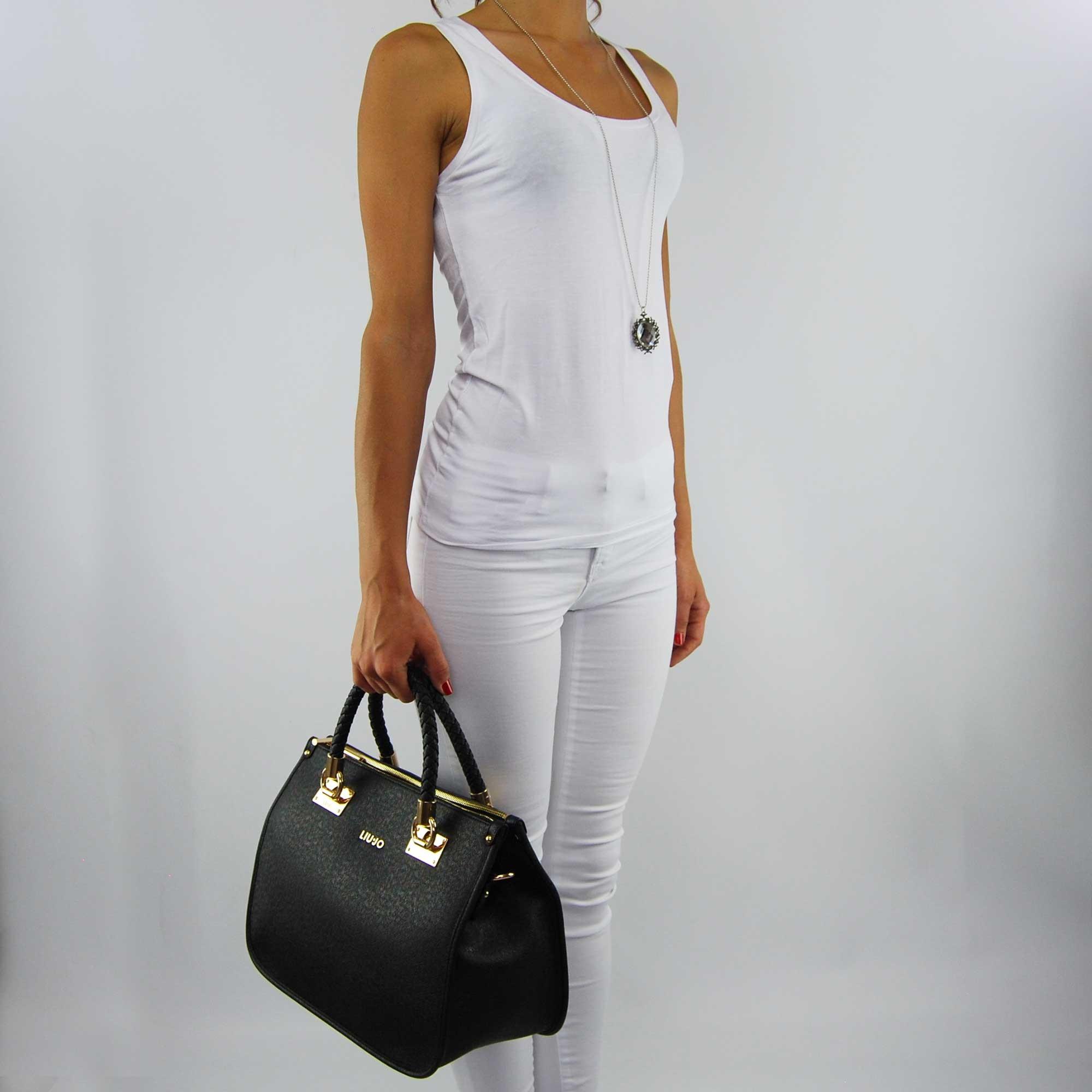 Shopping bag Liu Jo m quandrata anna black 4d7db441c73
