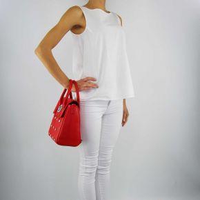 Borsa Versace Jeans rossa con rivetti
