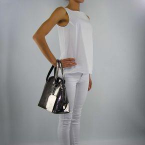 Borsa shopping specchio Versace Jeans argento