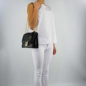 Handtasche Versace Jeans nappa biker schwarz