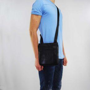 Borsa tracolla Versace Jeans nappa logata nera