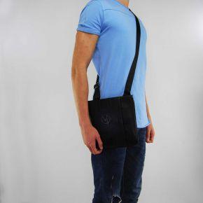 Shoulder bag Versace Jeans nappa with logo black