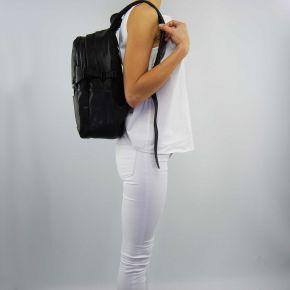 Borsa zaino Versace Jeans nappa logata nera