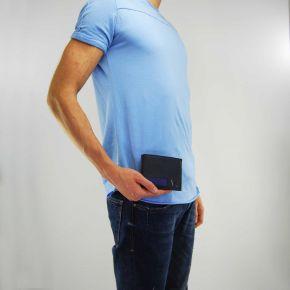 Portafogli Versace Jeans saffiano e pelle