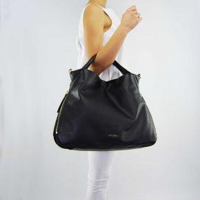 Bolsa de hombro bolsa grande Doble Conjunto negro
