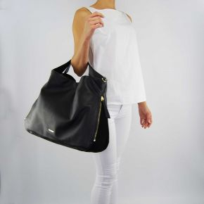 Tasche, schulter-tasche, großes Twin-Set schwarz