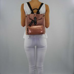 Bag backpack Twin Set satin pink nude
