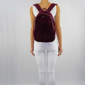 Bag backpack Twin-Set burgundy velvet