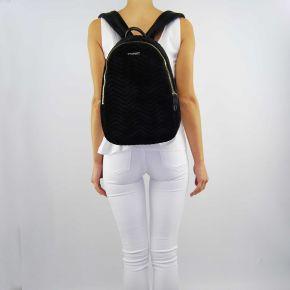 Rucksack handtasche Twin-Set velour-schwarz