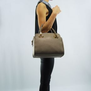 Borsa bauletto Liu Jo m anna pale brown metal