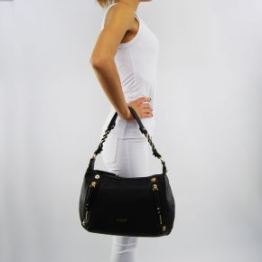 Shoulder bag Liu Jo black lavender