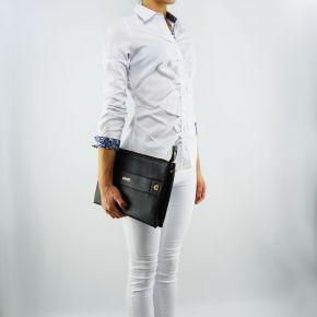 Tasche Liu Jo clutch mit schulterriemen aus schwarzem lavendel