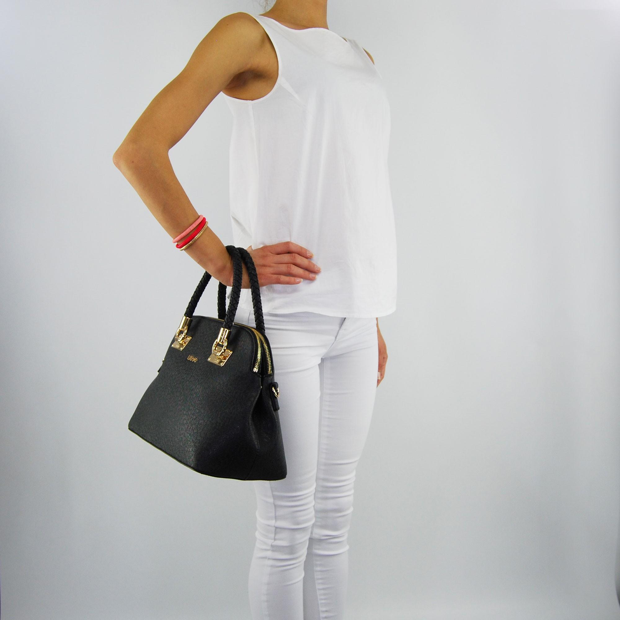 Shopping bag Liu Jo m anna two compartments black 9c701584597