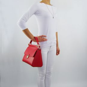 Borsa bauletto Patrizia Pepe matt red