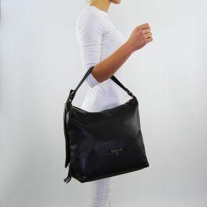 Hobo bag Patrizia Pepe fringe black