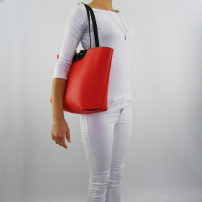 Shopping bag by Patrizia Pepe black reversible orange black orange