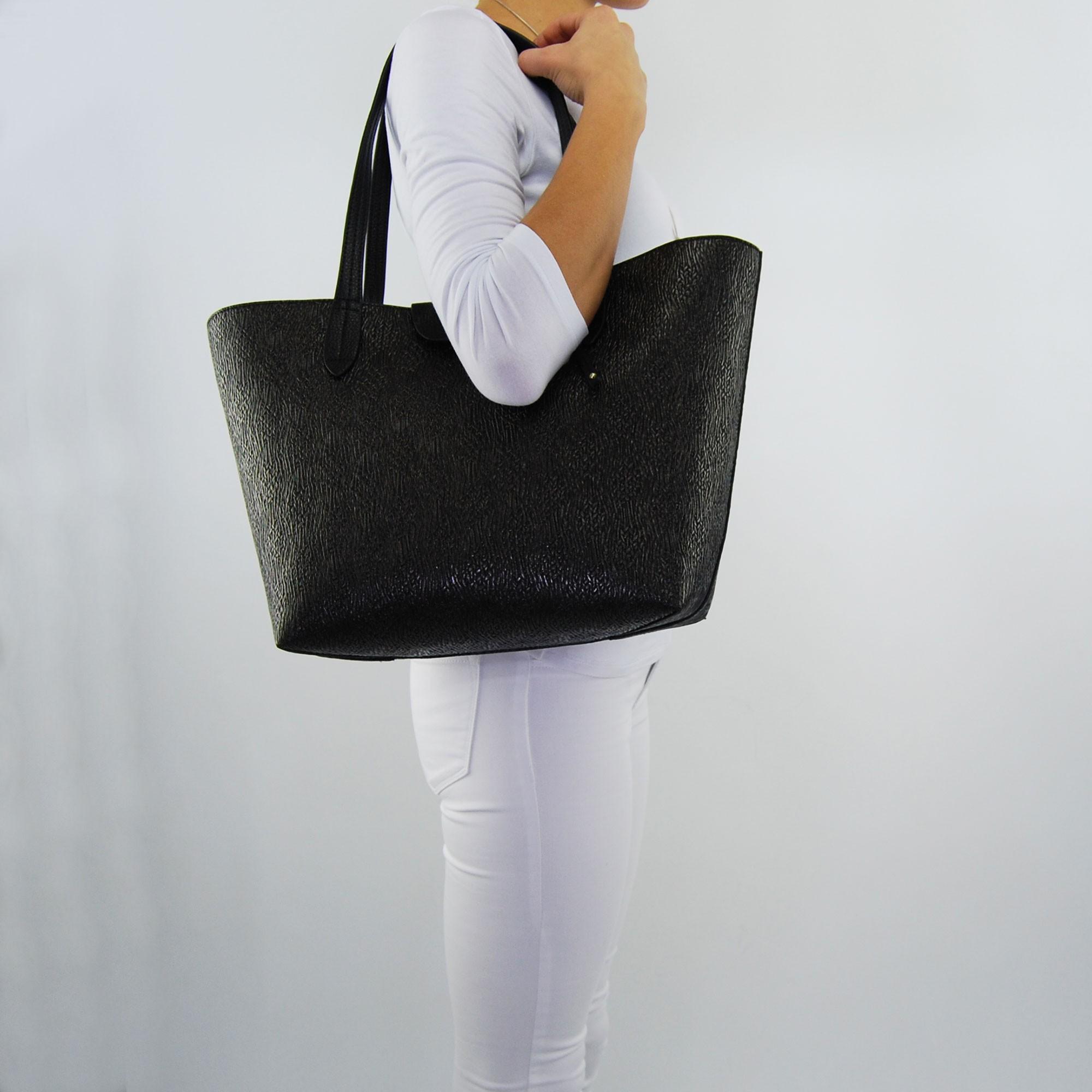 e06ca5125c Shopping bag by Patrizia Pepe black reversible black laminated