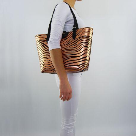 Shopping bag von Patrizia Pepe schwarze reversible rust metal