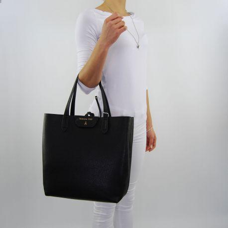 Borsa shopping Patrizia Pepe reversibile black orange