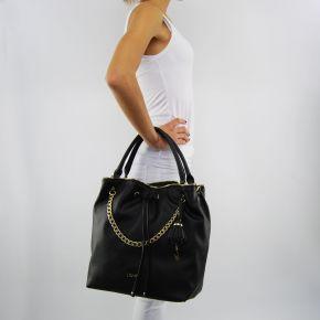 Bolsa de bolsa de balde Liu Jo stern negro