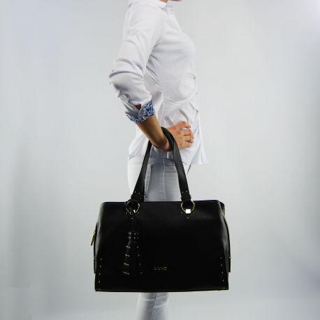 Borsa shopping Liu Jo etampes nera