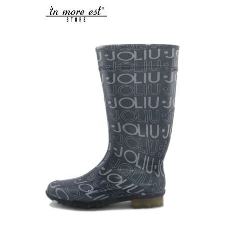 BOOT RAIN RUBBER GRAY WITH LOGO LIU JO