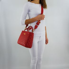 Einkaufstasche-Love Moschino gesteppte rote