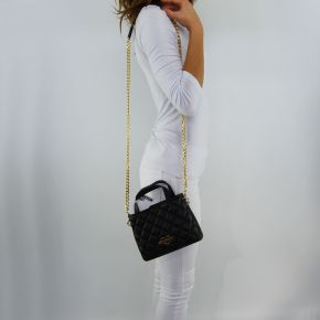 Shoulder bag Love Moschino quilted gold black