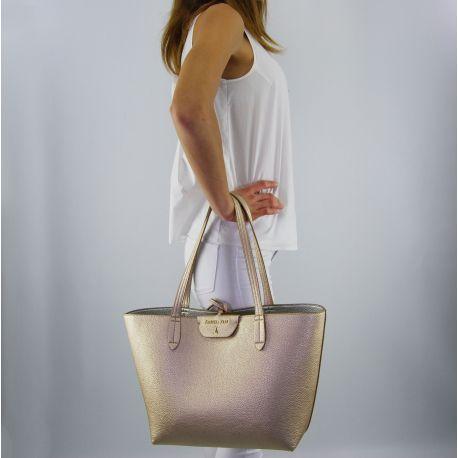 Shopping bag von Patrizia Pepe reversible-gold-silber-new gold silver