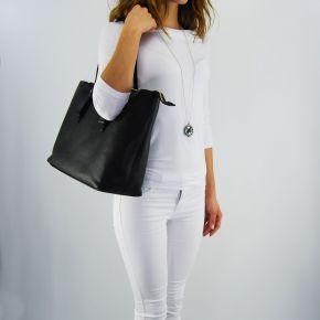 Tasche shopping Versace Jeans grana-cervo weich schwarz