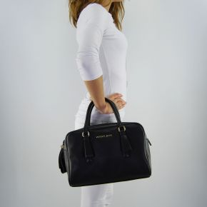 Borsa bauletto Versace Jeans grana cervo morbida nera