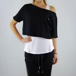 T-shirt de Liu Jo auténtica, negro, blanco