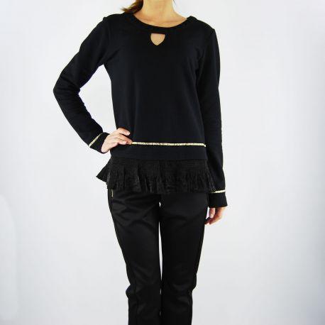 Sweatshirt geschlossen Liu Jo joliet schwarz