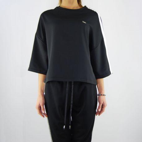 T shirt top Liu Jo phoenix nera bianca