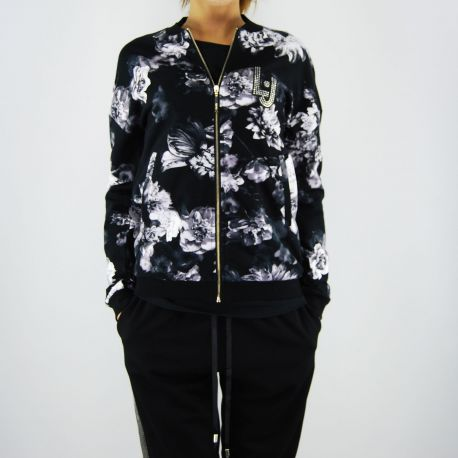 Sweatshirt geöffnet Liu Jo aruba flower schwarz