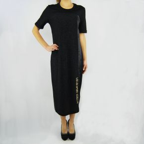 Kleid Liu Jo sweatshirt miami schwarz lurex schwarz