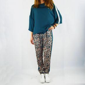 Pantalones de Nueva York Liu Jo mácula de pavo real