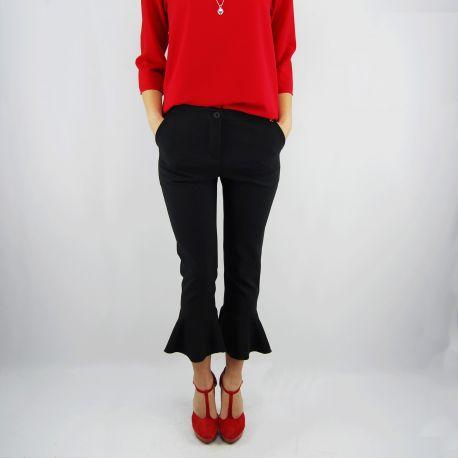Pantalone Everis lillo nero cropped pant