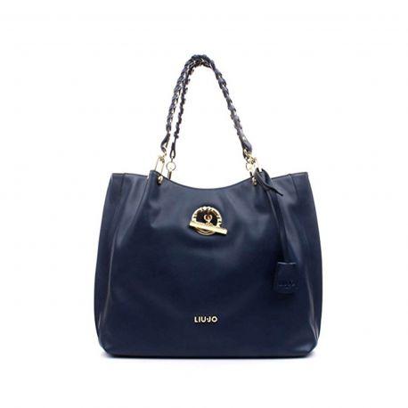 Borsa shopping satchel Liu Jo blu marino