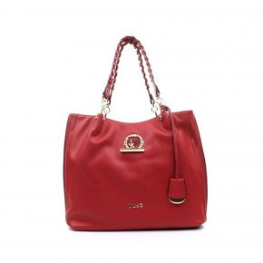 Borsa shopping satchel Liu Jo cherry red