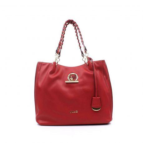 Borsa shopping satchel Liu Jo cherry red