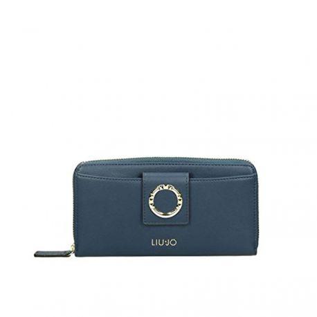 Geldbörse von Liu Jo xl zip-around-marineblau