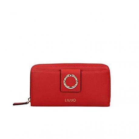 Geldbörse von Liu Jo xl zip around-cherry red
