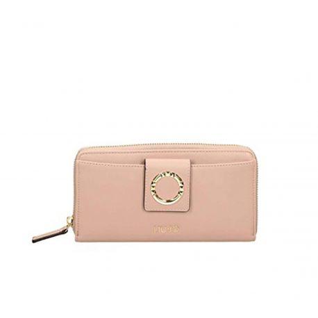 Portafoglio Liu Jo xl zip around quarzo rosa