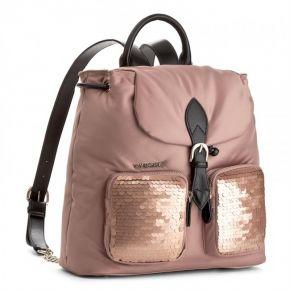 Rucksack handtasche Twin-Set-große satin-nude