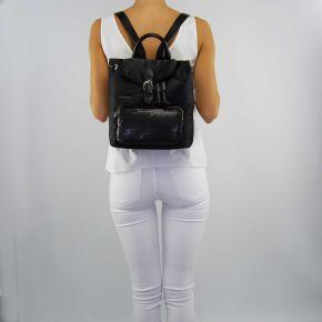 Rucksack handtasche Twin-Set, matt schwarz