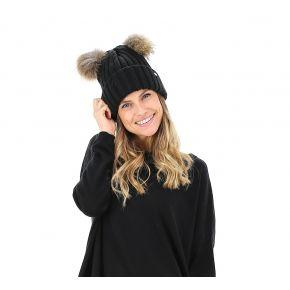 Hat pompon fur LiuJo black