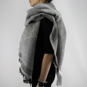 Scarf Twin-set row grey