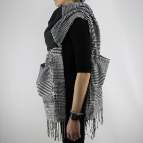 Scarf, Twin set dark grey melange